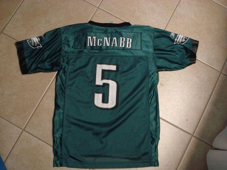 Philadelphia Eagles Football Jersey #5 McNabb Boys Large (14-16) Reebok on field #Reebok #PhiladelphiaEagles