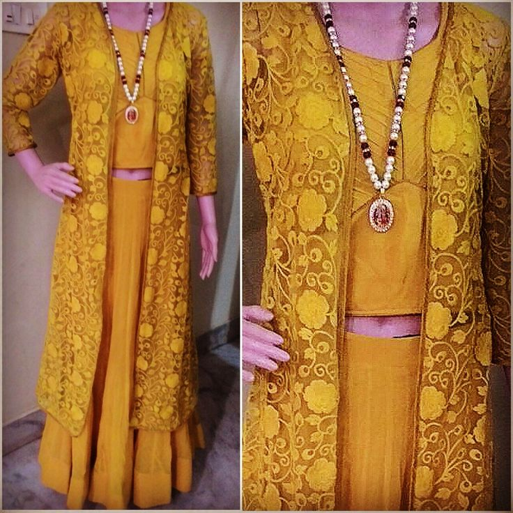 This three piece mustard yellow outfit is a total must have this season.   #prettylook  #designer #couture  #clothing #luxury #apparel  #happiness #embroidery  #intricate #fashion #bridal #wedding #gown #lehenga  #yellow #mustard  #floral #motif #details #indianfashion #fashionista #ootd  #ethnic  #bespoke  #apparel #colors #shaadi #desi