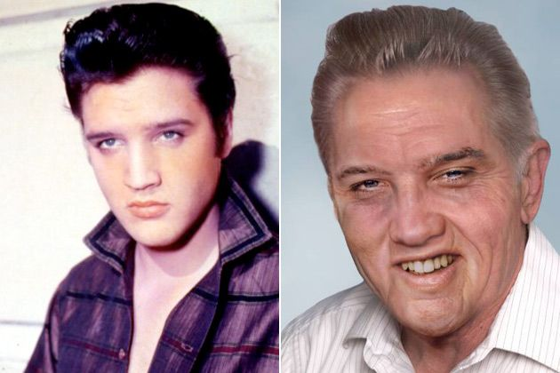 What would Celebrities look like if were still alive? I'm not sure how I feel about 'old Elvis'.