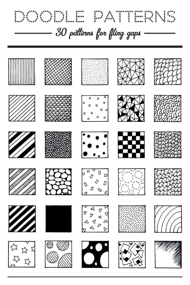Pic Candle | 30 Doodle Patterns. #doodles #doodling                                                                                                                                                                                 More