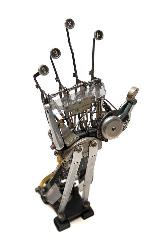 Jeremy mayer typewriter reassemblage sculptures all