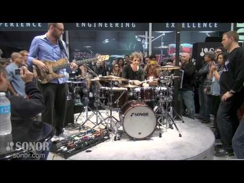 SONOR @ NAMM 2013 Jojo Mayer Drumming