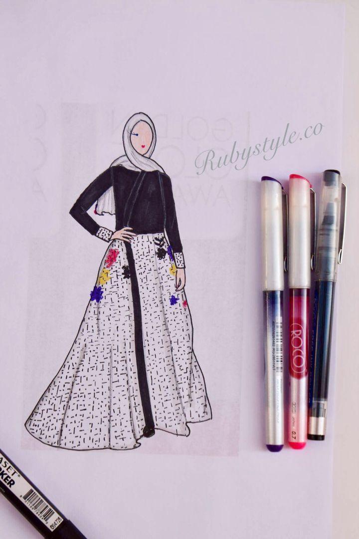 Hijab Fashion Design Golden Globes Dresses تصميم ازياء محجبات من فساتين حفل Golden Globes Hijab Hijab