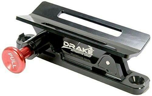 Drake Off-Road Drop-Off Fire Extinguisher Mount x3 $234.30AUD |One Extinguisher Cargo Barrier (inside cabin), One Extinguisher Rear Window A-Pillars, One Flashlight Rear Window A -Pillar|