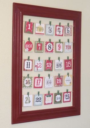 Christmas Countdown Advent Activity Calendar Holidays Pinterest
