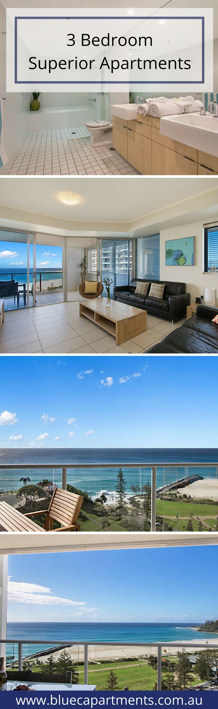 Whether you are here for a weekend, a week, or longer, you will find your Blue C apartment the perfect home away from home to relax, enjoy and explore the features our world-class southern Gold Coast location has to offer. CLICK here for more info http://bluecapartments.com.au/3-bedroom-apartment-coolangatta/ | Blue C Apartments Coolangatta Beach | Australia's Gold Coast & Tweed Valley Accommodations