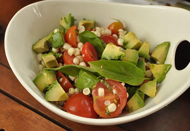 Late Summer Salad: Tomato, Corn and Avocado | Avocado salads, Summer ...