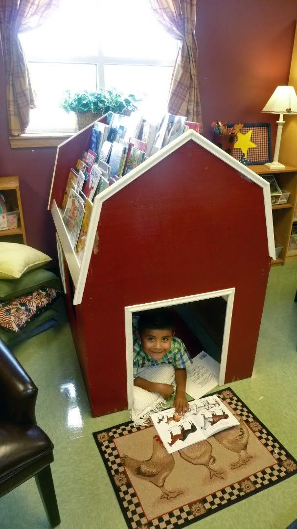 I bet I could buy a dog house and convert it to this! Kids love their little spaces!
