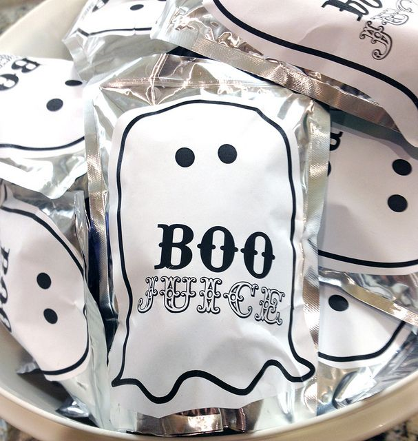 Easy & quick Halloween Class party drinks (stickers on Capri Sun or pouch drinks)  boojuicesm by sparkbark, via Flickr