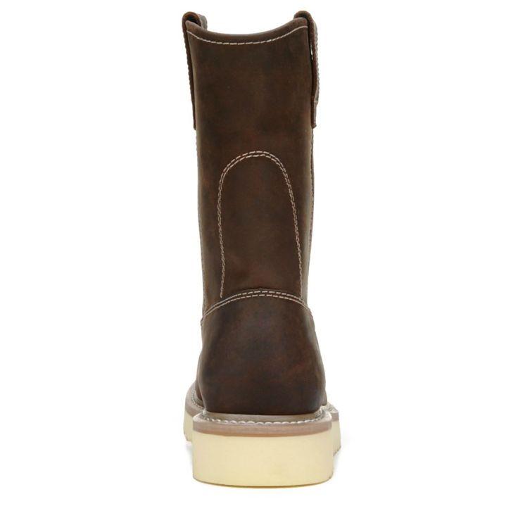 "Wolverine Men's Loader 10"" Medium/X-Wide Steel Toe Pull On Work Boots (Brown Leather)"