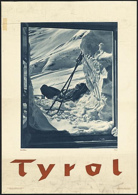 vintage Tyrol ski poster