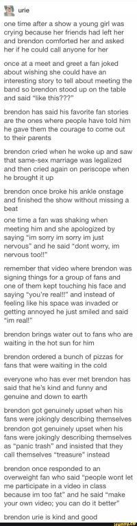 I love Brendon
