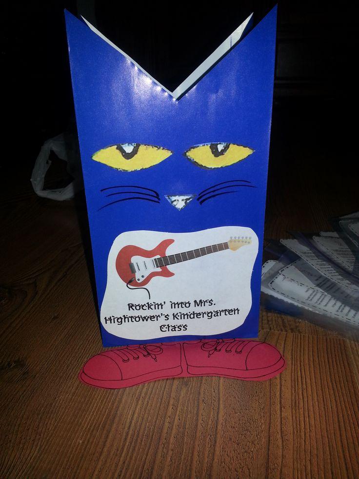 Pete the Cat goody bag for Kindergarten Open House