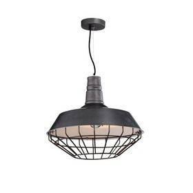 Pendant Light Metal Industrial Funnel with Cage in 46cm Replica | Bronze or…