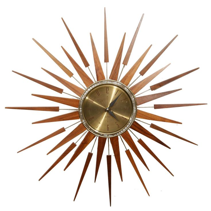 60s Sunburst Clock - I am going to find one of these