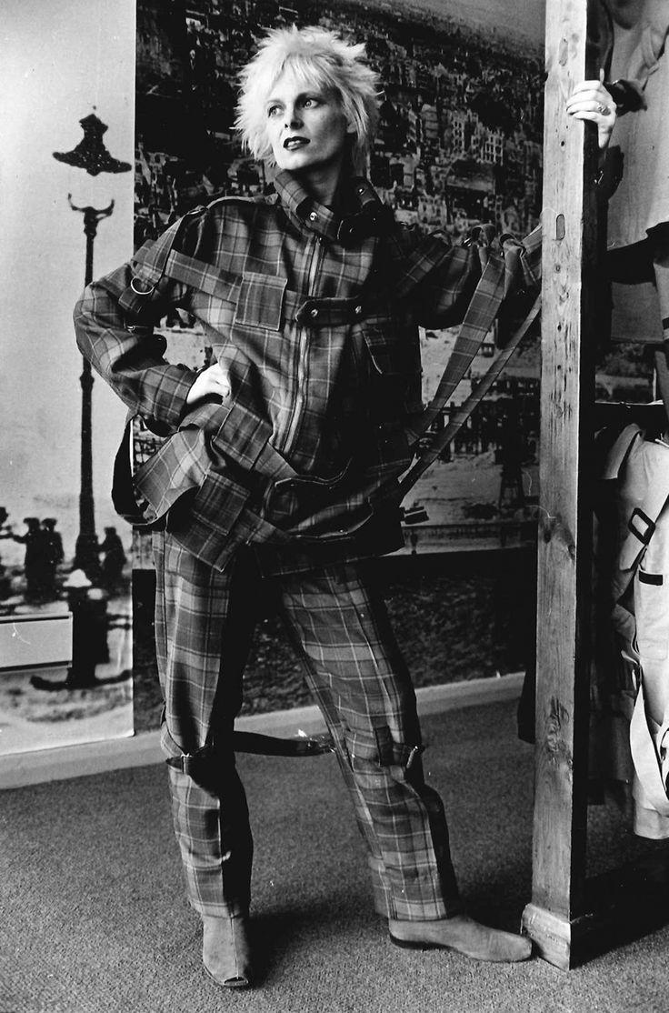 Vivienne Westwood, photographed at her shop Seditionaries on 430 Kings Road…