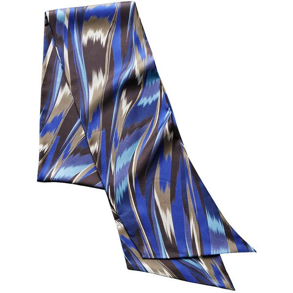 Missoni Silk Scarf (1,505 EGP) ❤ liked on Polyvore featuring accessories, scarves, blue, oblong silk scarves, pure silk scarves, long silk scarves, silk scarves and multi colored scarves