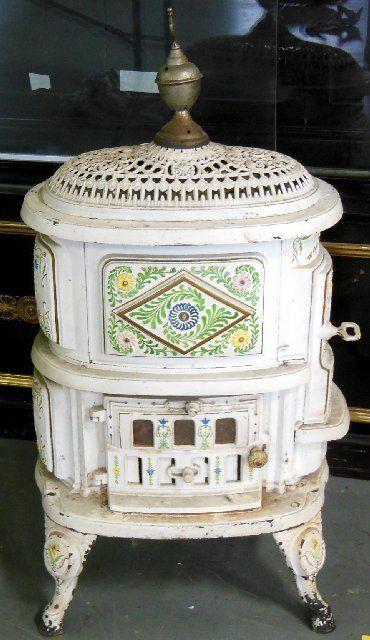 Victorian wood burning stove