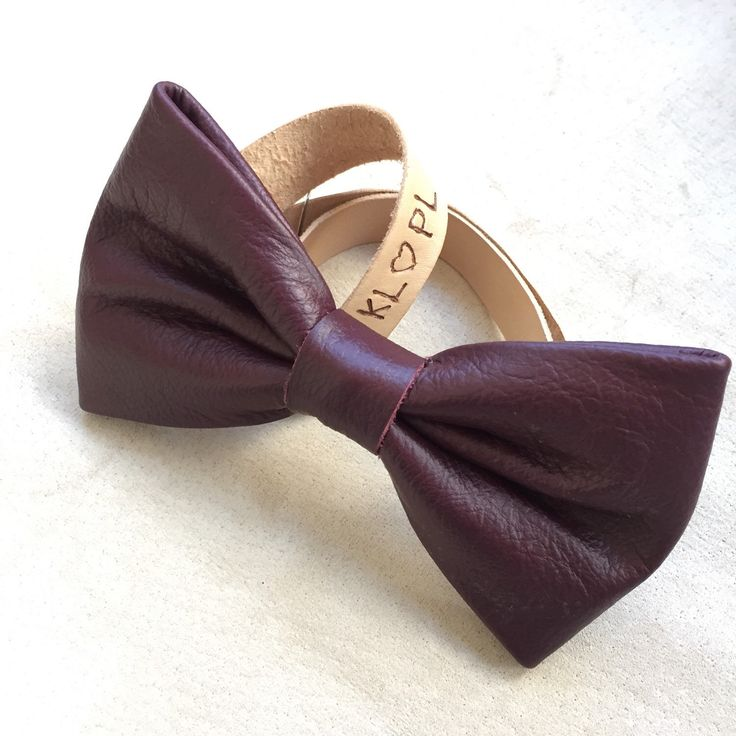 Men's leather bow tie,  Personalized gift for him