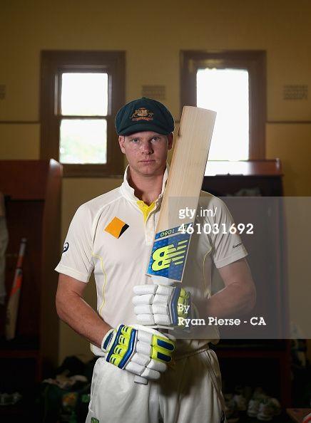 News Photo : Steve Smith of Australia poses during a portrait...