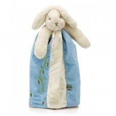 Bunnies by the Bay Blue Bunny 'Bud' Baby Blanket Blanky Comforter. #bunniesbythebay