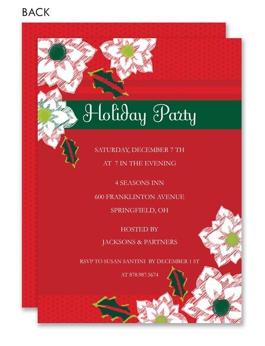Potluck Dinner Party Ideas Part - 33: Poinsettia Holiday Party Invitation #12daysofchristmas #holiday #party  #invitation · Dinner Party InvitationsHoliday Party InvitationsPotluck ...