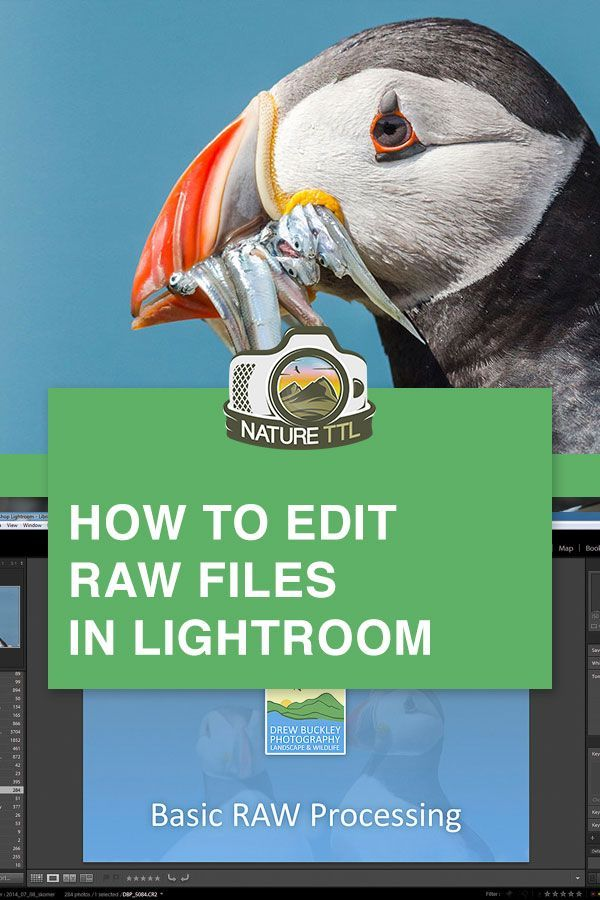 How to edit raw files in lightroom