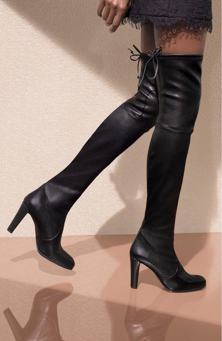 Stuart Weitzman Walking Shoes Rubber Sole Black