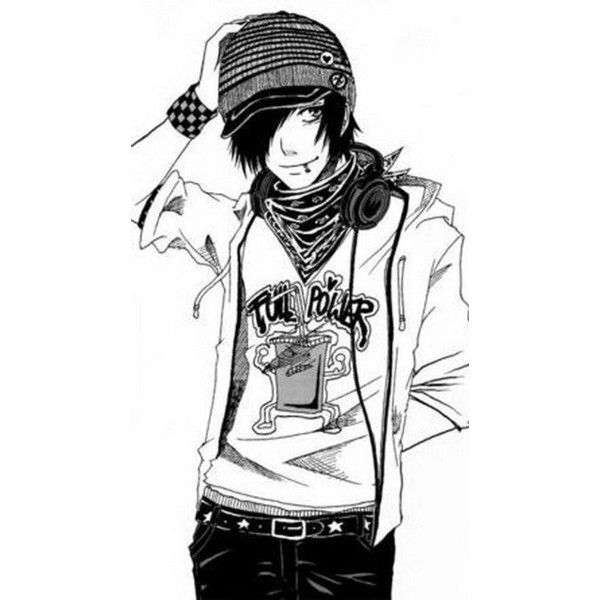 emo boy ❤ liked on Polyvore: