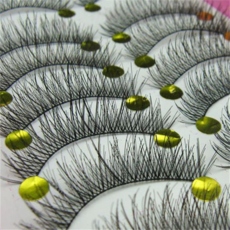 BLUEFRAG Natural False Eyelashes 10 Pairs Handmade Fashion Soft Thick Long Eye Lash Cheap Lashes Cilios Posticos Fast Shipping