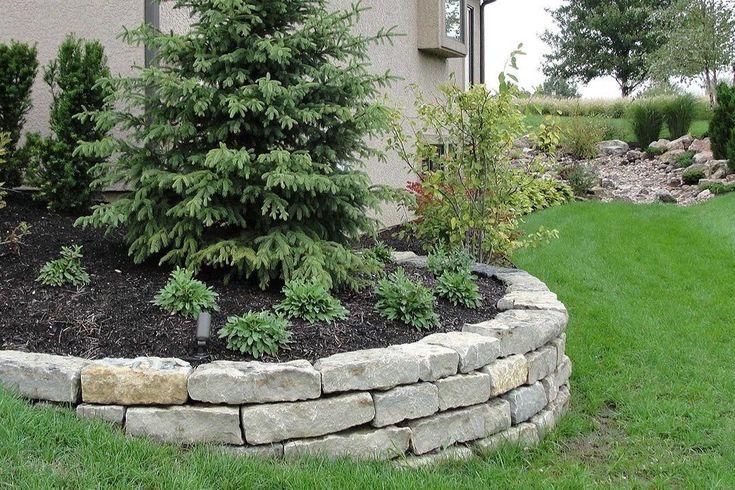 Подпорные стены из природного камня – идеи дизайна для дачи и садового у...