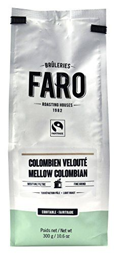 Faro Roasting House Mellow Colombian Fine Grind Coffee 10oz, Flavorful Organic and Fair Trade Filter Grind Coffee - Fresh Light Roast Ground Coffee, Finely Ground Coffee Beans (10 Ounce Bag) *** More info could be found at the image url.