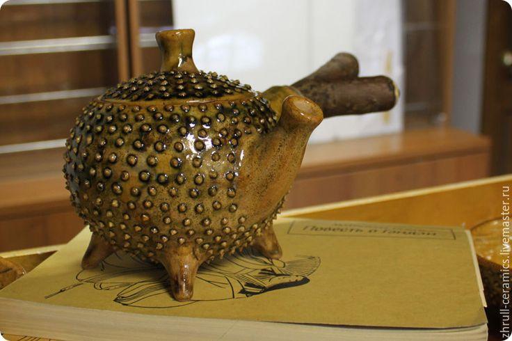 """Купить Чайник """"Каштан"""" - керамика ручной работы, авторская керамика, глазури, глина, чайная церемония"""