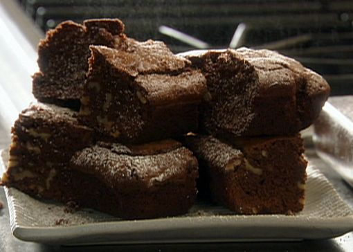 Amaretto Chocolate Brownies with Walnuts from FoodNetwork.com