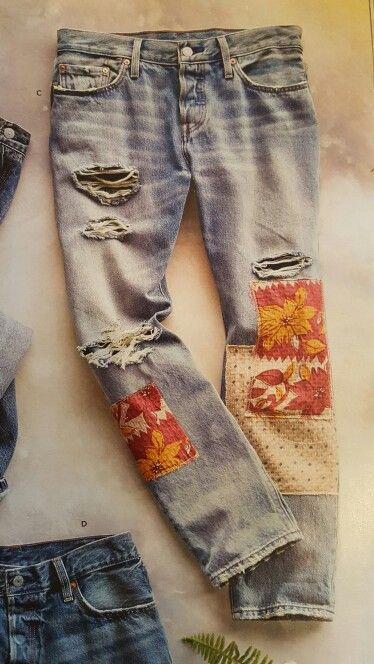 Sundance Catalog - Levi's 501 Desperado Patch Jean's - less holes would be preferable