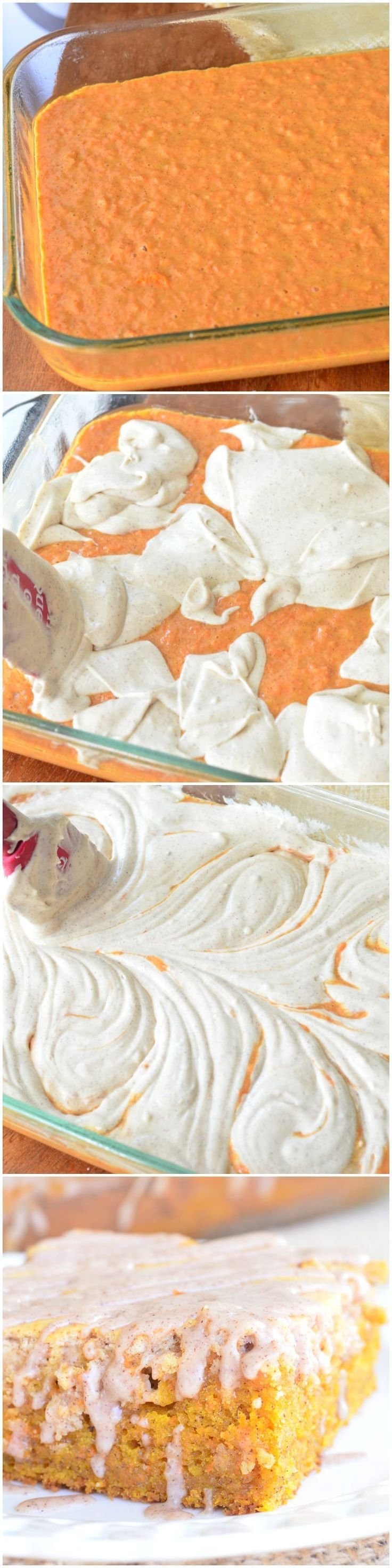 Spiced Cheesecake Swirled Carrot Cake | from willcookforsmiles… #desserts #spr…