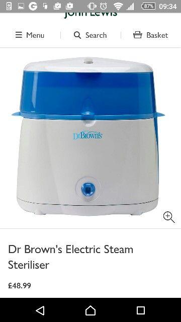 Dr Brown Steriliser