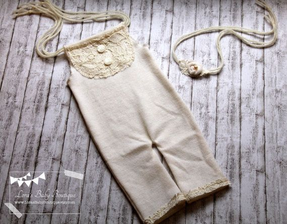 Newborn Photo Props Newborn Romper Baby by LorasBabyBoutique
