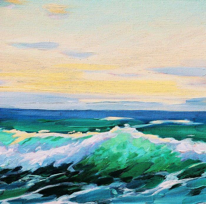 Risultati immagini per paesaggi marini dipinti | Painting ...