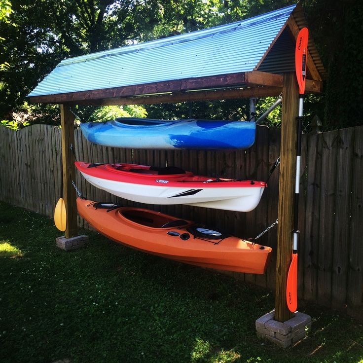 Kayak rack diy https://uk.pinterest.com/uksportoutdoors/kayakiing/pins/