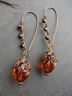 Embellished kidney wires everything jewelry pinterest for Jewelry made from kidney stones