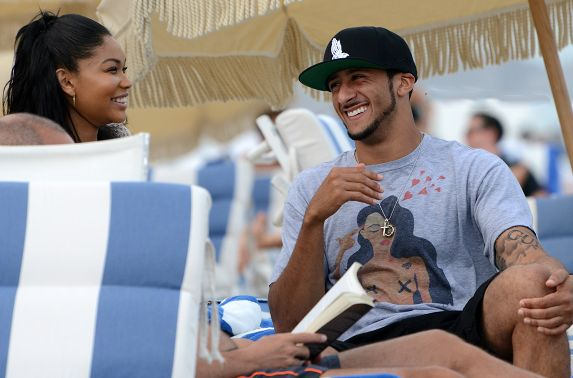#NFL Gossip: #49ers QB, Colin Kaepernick, was spotted in Miami today with model, Chanel Iman. While Chanel has been dating rapper A$AP ROCKY, and Kaepernick is allegedly dating EVERYONE...these two would make a pretty cute couple. #Gossip #Fun #Football #Kaepernick #Dating #Girlslovethegame