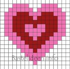 Herz - Hama VorlagenBeads Valentine, Bead Patterns, Fused Beads, Perler Beads, Heart Perler, Hama Beads, Crosses Stitches, Beads Pattern, Heart Pattern