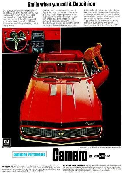 1967 Chevrolet Camaro SS Convertible - Promotional Advertising Poster