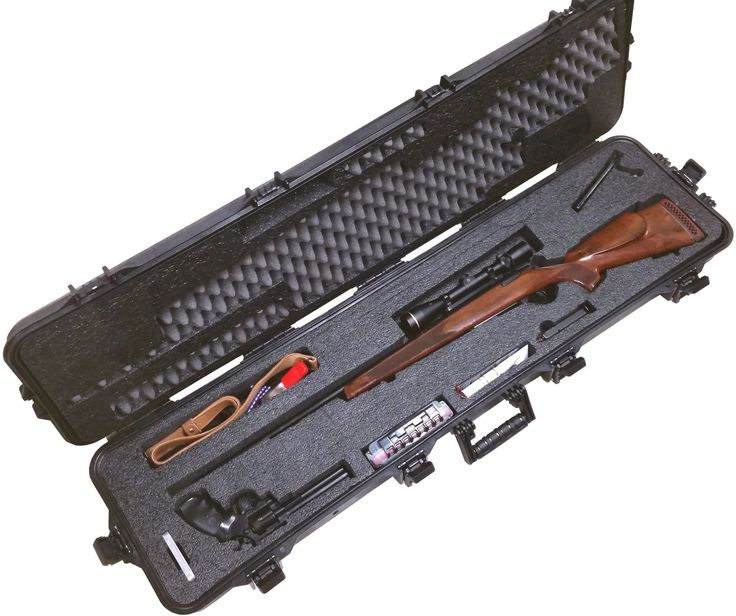 Case Club Pre-Made Hunting Rifle Waterproof Case with Silica Gel & Accessory Box