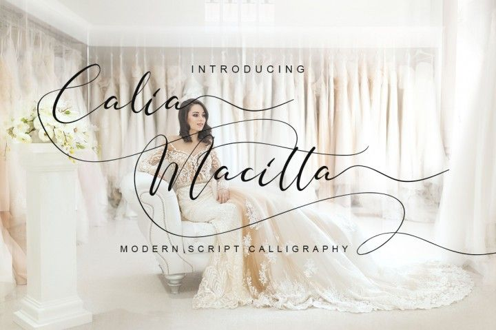 Calia macitta is modern script font with modern style this font
