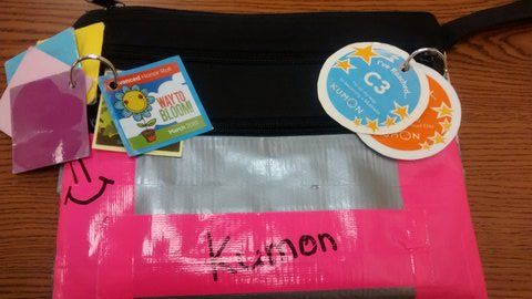 Who needs KUMON blue, when you have hot pink duct tape?  We love how this KUMON student expressed her individuality on her KUMON bag.  Join her at KUMON in Lexington, KY: http://www.kumon.com/centerepage/home.aspx?p1=a42c8dad-7bac-4583-b93d-d31d44237a23&p2=1&p3=lexington-southeast