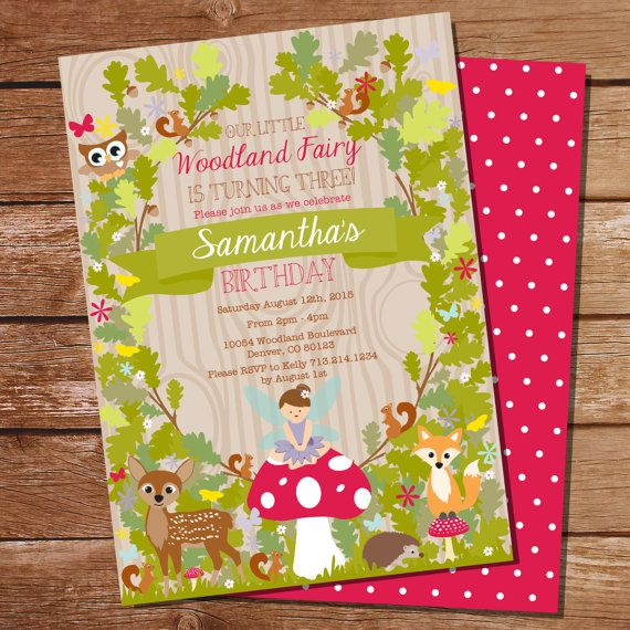 Woodland Fairy Party Invitation  by SunshineParties......these are my favorite!