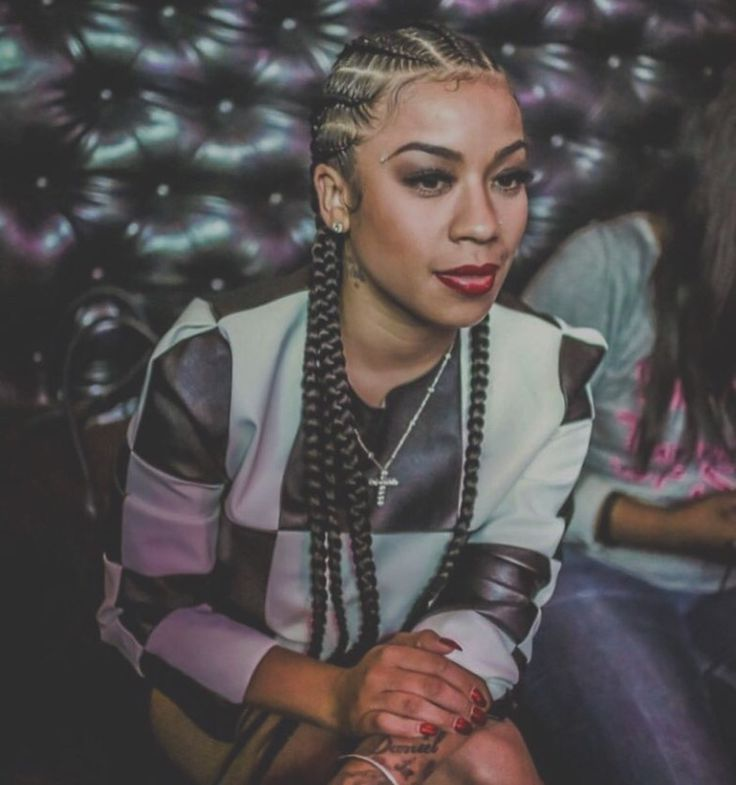 Keyshia Cole Red Braids 2014