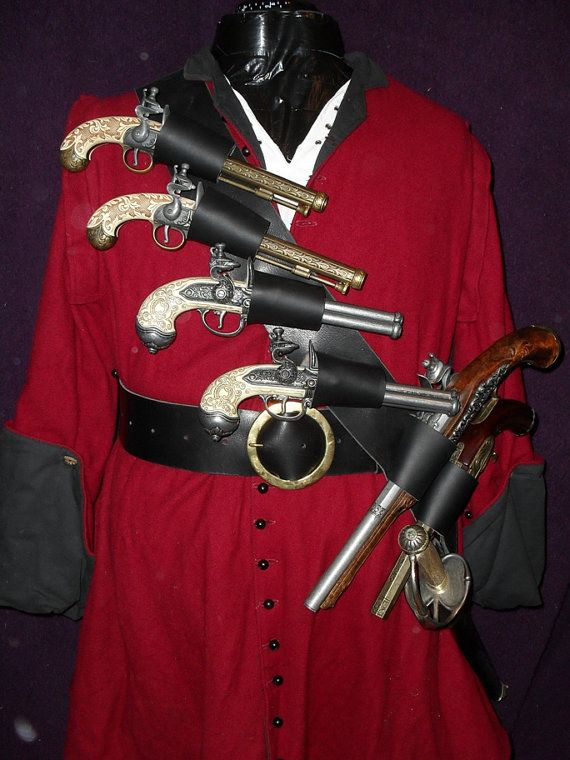 Pirate Barbe noire que six pistolet et le baudrier de l'épée
